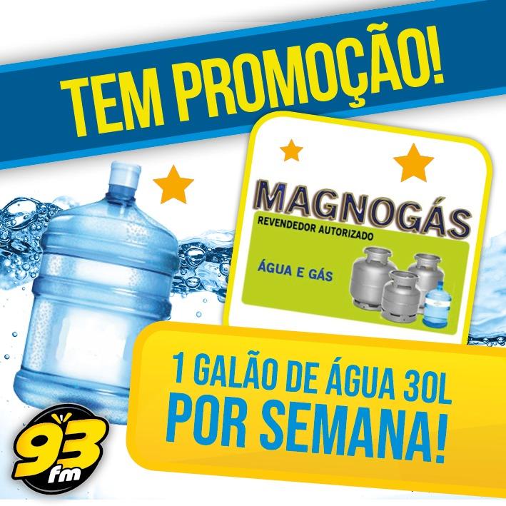 Promoção vale água no Magno Gás