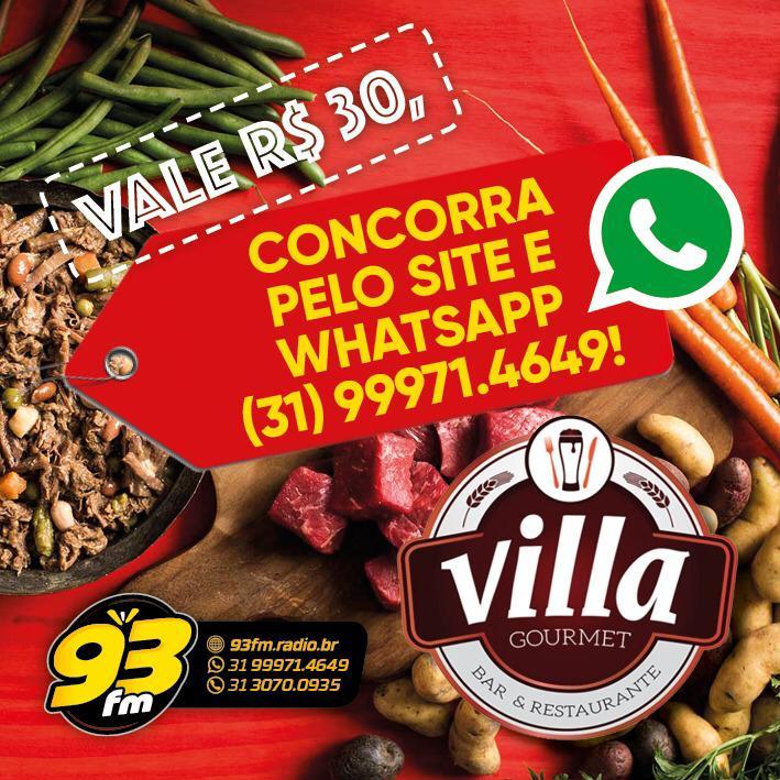 Vale R$30 da Villa Gourmet