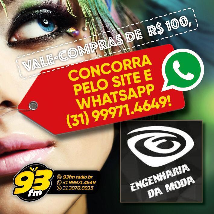 VALE COMPRAS DE R$100 NA ENGENHARIA DA MODA