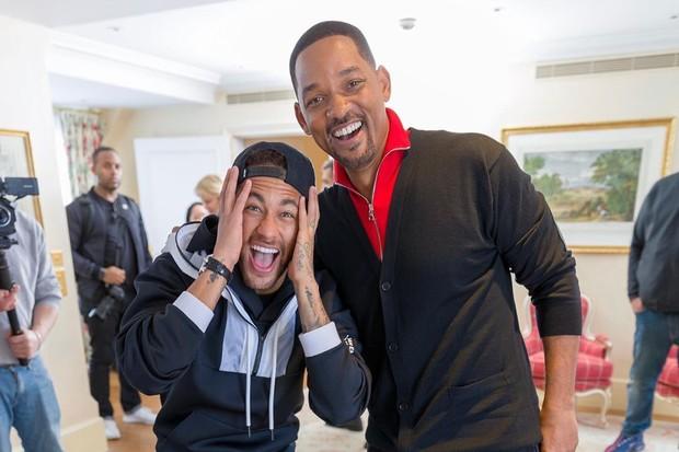 Neymar se encontra com Will Smith
