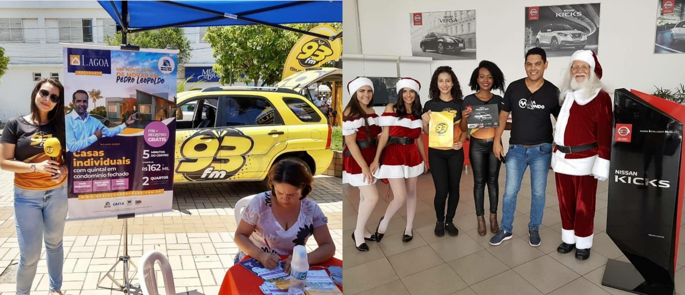 Ações 93 FM em Pedro Leopoldo e Sete Lagoas
