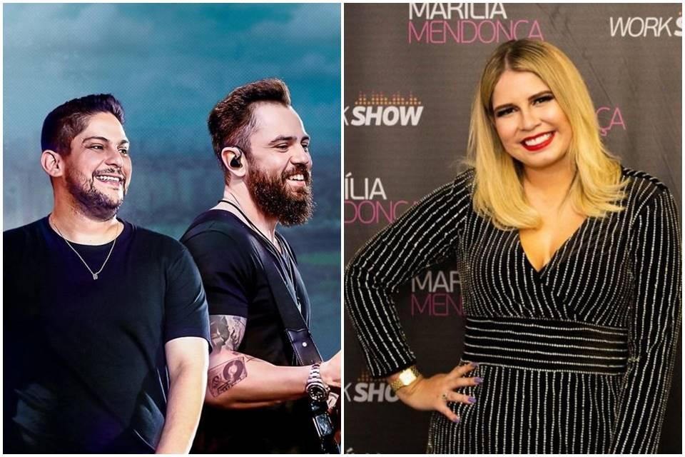 Marília Mendonça e Jorge & Mateus no topo!