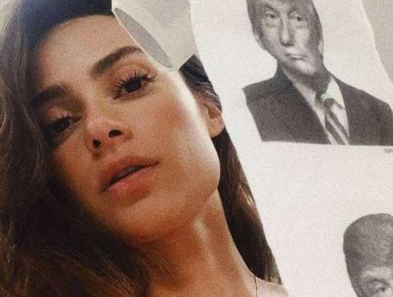 Papel higiênico com o rosto do Donald Trump