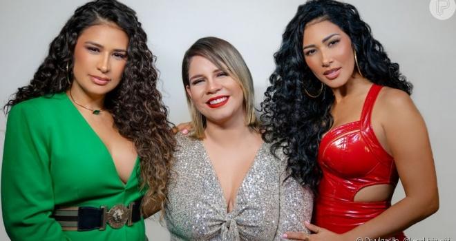 Simone, Simaria e Marilia gravam juntas