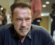Schwarzenegger é atingido por 'voadora'