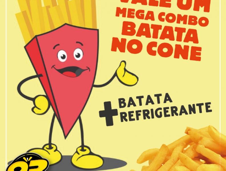 PROMOÇÃO VALE COMBO + REFRIGERANTE DA BATATA NO CONE