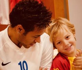 Filho de Neymar desembarca na Rússia