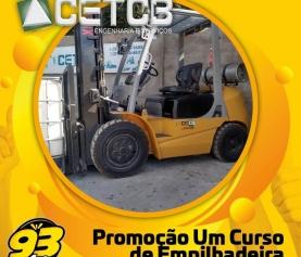 PROMOÇÃO CURSO DE EMPILHADEIRA CETCB E 93 FM