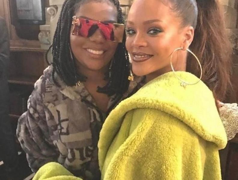 Ludmilla e Rihanna em Paris