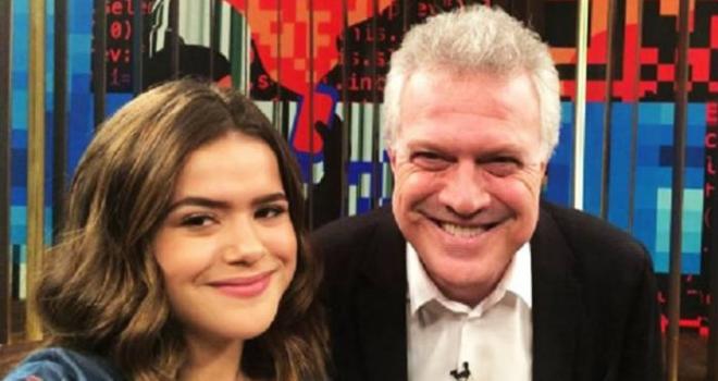 Pedro Bial vai gravar o programa de Maisa