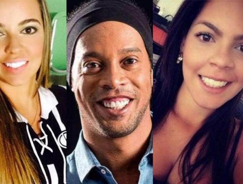 Ronaldinho termina namoro com as duas namoradas