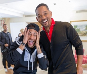 Neymar se encontra com Will Smith