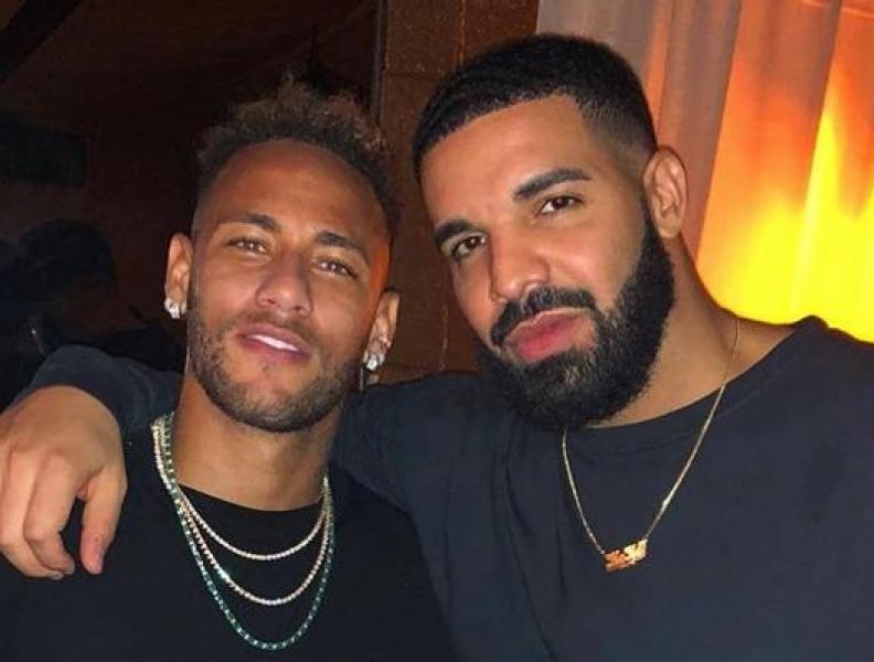 Neymar tieta Drake e Bruna Marquezine comenta
