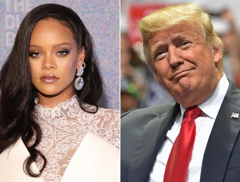 Rihanna veta Donald Trump