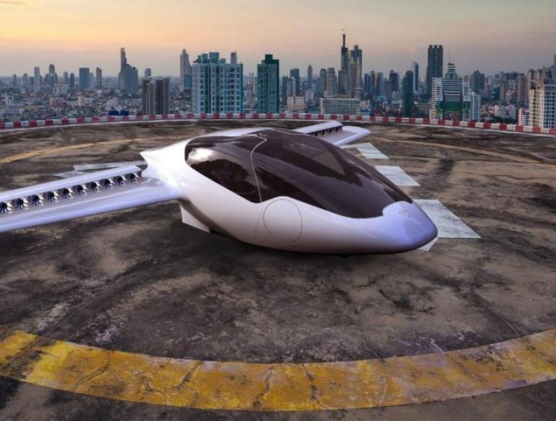 Táxi aéreo elétrico realiza primeiro voo