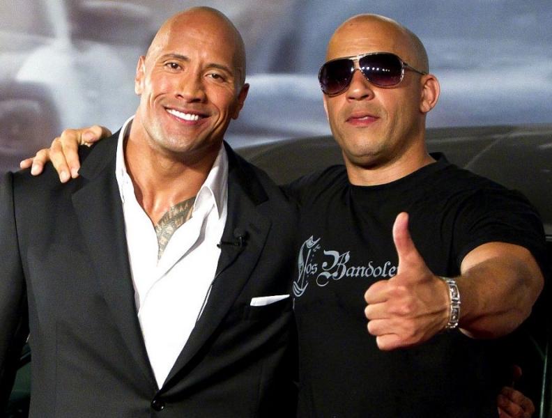 The Rock e Vin Diesel fazem as pazes